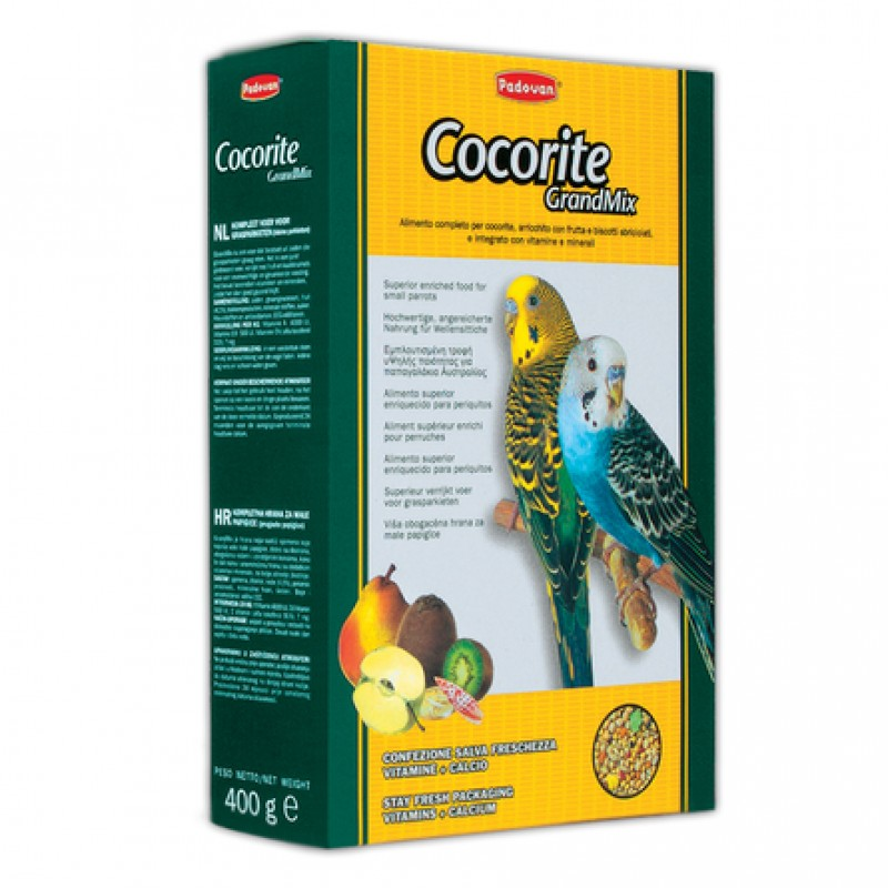Padovan Grandmix Cocorite Корм для волнистых попугаев, 400 гр