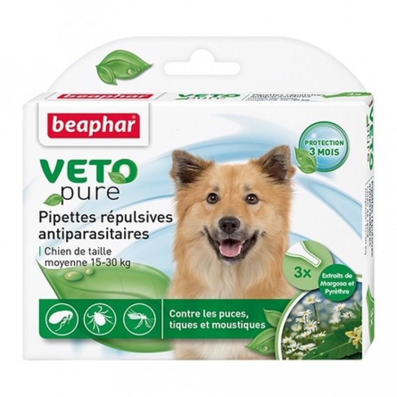 Beaphar VETO pure БИО капли от блох и клещей для собак средних пород