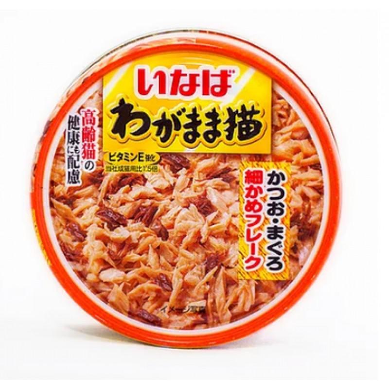 INABA влажный корм для кошек (японский тунец с тонкой нарезкой желтопёрого тунца), 115 гр