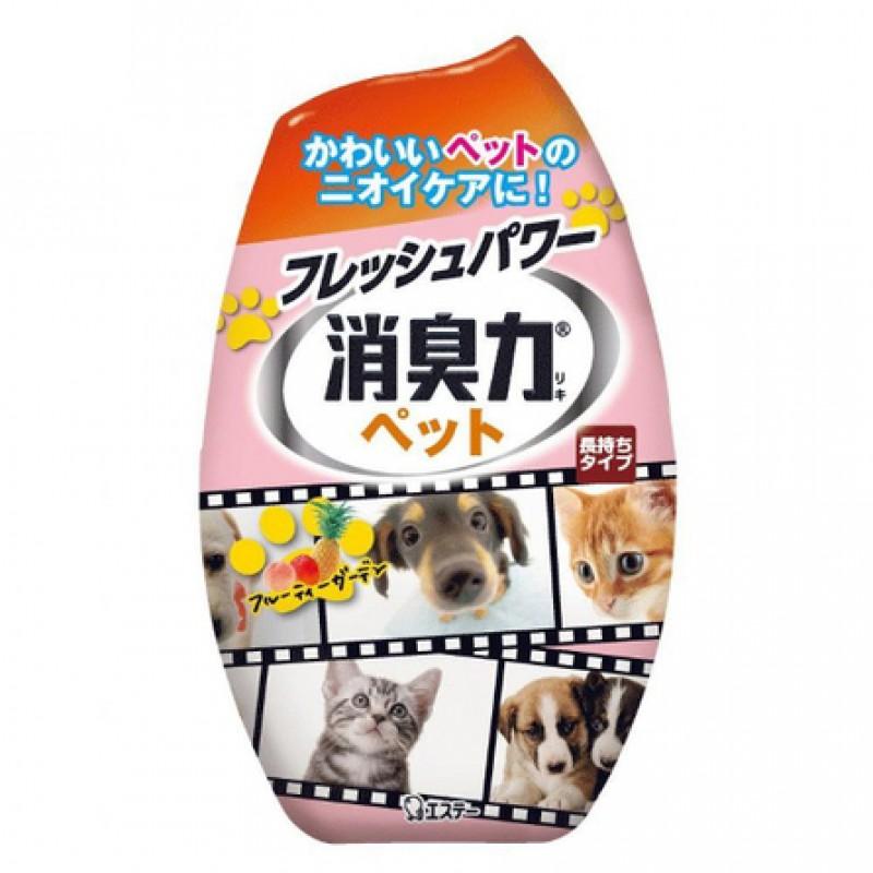 ST Shoushuuriki Жидкий дезодорант-ароматизатор против запаха животных (с ароматом фруктового сада), 400 мл