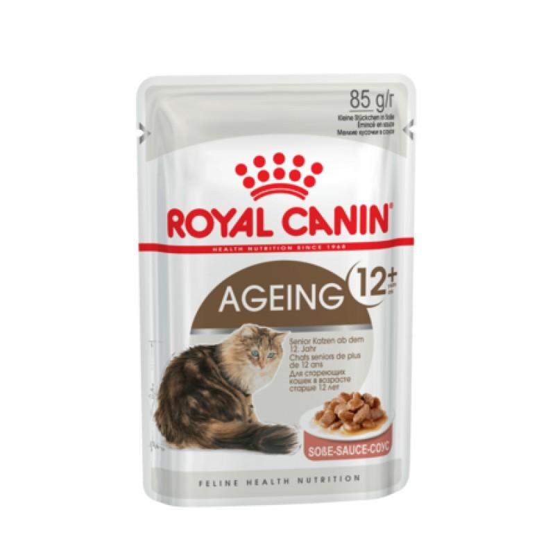 Royal Canin Ageing +12 Кусочки паштета в соусе для пожилых кошек старше 12 лет, 85 гр