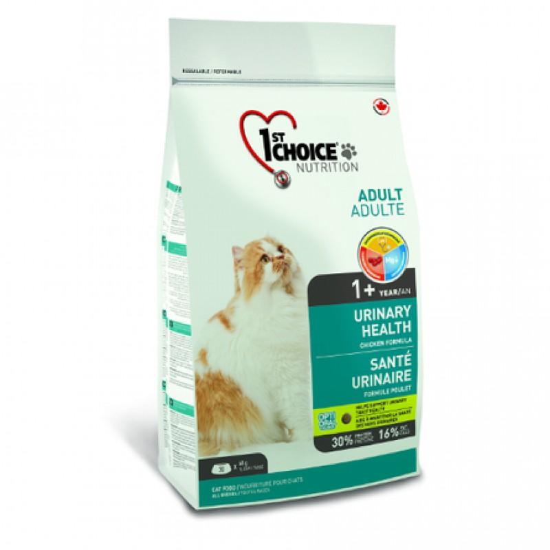 1st Choice Urinary Сухой корм для взрослых кошек для профилактики мочекаменной болезни (с курицей), 340 гр