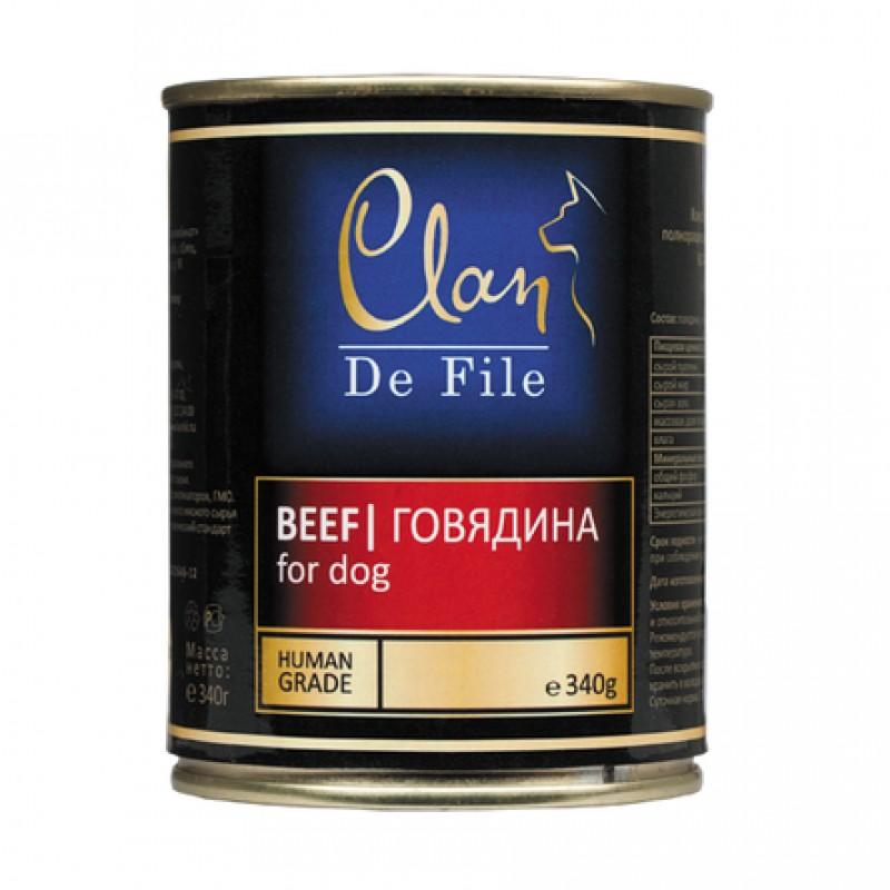 Clan De File Филе в желе для взрослых собак всех пород (говядина), 340 гр