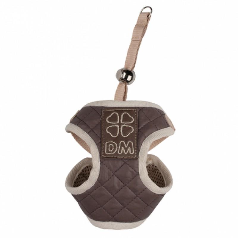 Dogmoda Лаки Шлейка для собак, полиэстер, коричневая