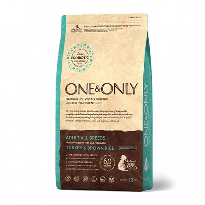 One&Only Turkey & Rice Adult All Breeds сухой корм для взрослых собак всех пород (индейка с рисом), 12 кг