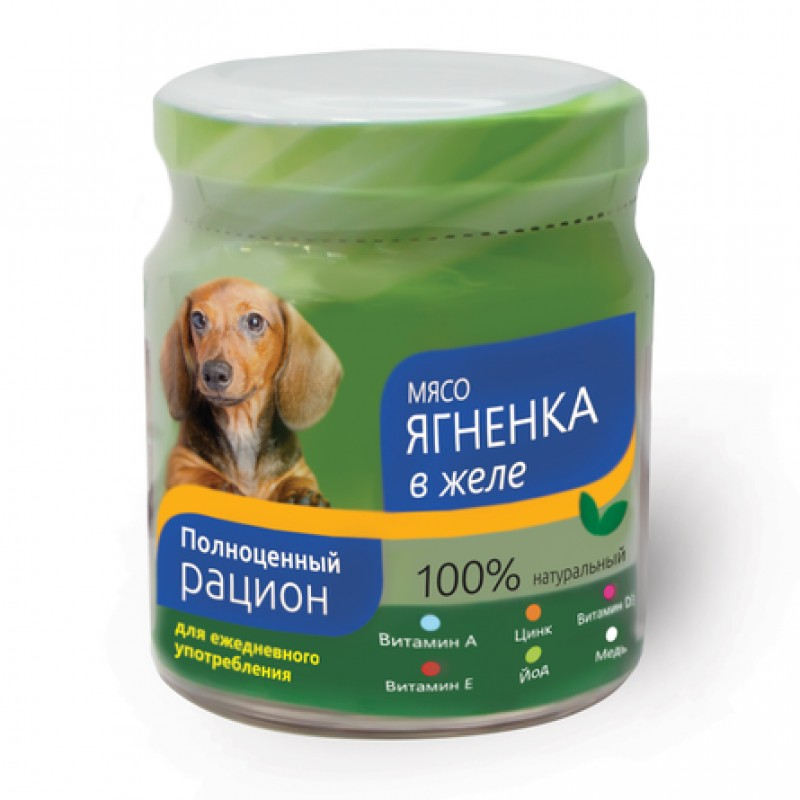 TiTBiT Филе в желе для взрослых собак всех пород (с ягненком), 100 гр