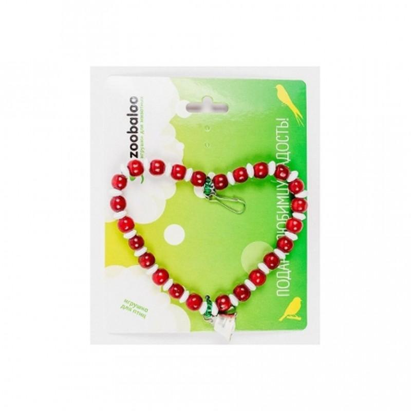 Zoobaloo Сердце с колокольчиком игрушка для птиц