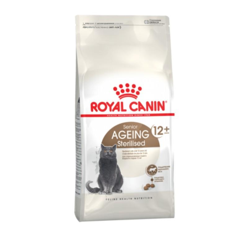 Royal Canin Ageing Sterilised 12+ Сухой корм для пожилых стерилизованных кошек и кастрированных котов старше 12 лет, 4 кг