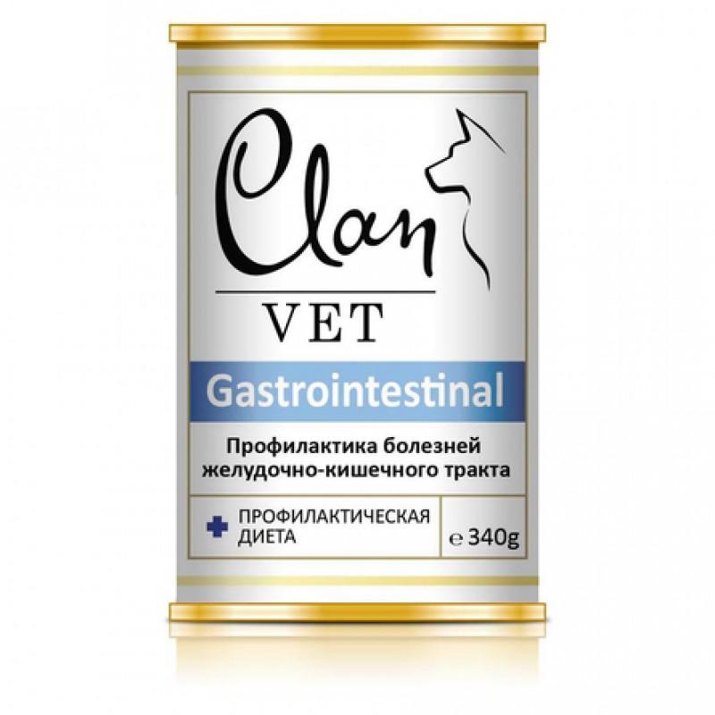 Clan Vet Gastrointestinal Влажный лечебный корм для собак для профилактики заболеваний ЖКТ, 340 гр