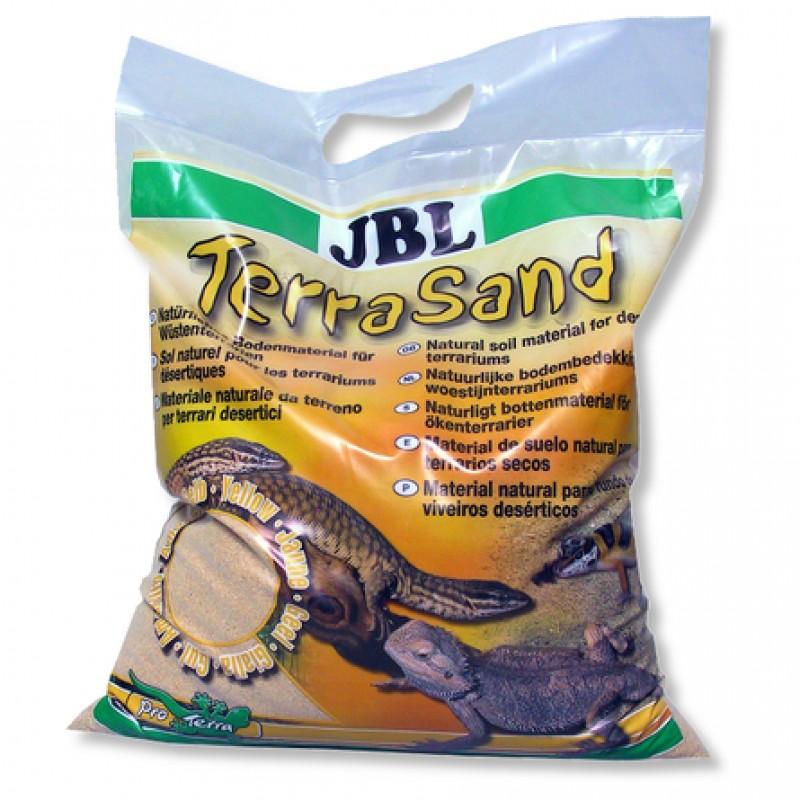 JBL TerraSand Донный грунт для сухих террариумов, натуральный желтый, 5 л