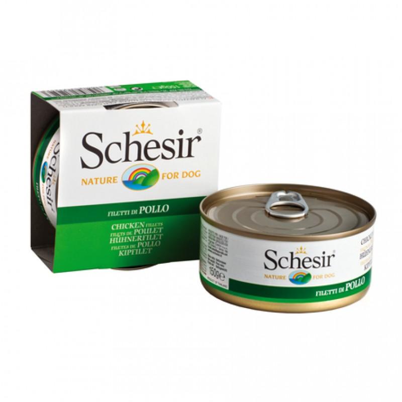 Schesir Филе для взрослых собак всех пород (с цыпленком), 150 гр