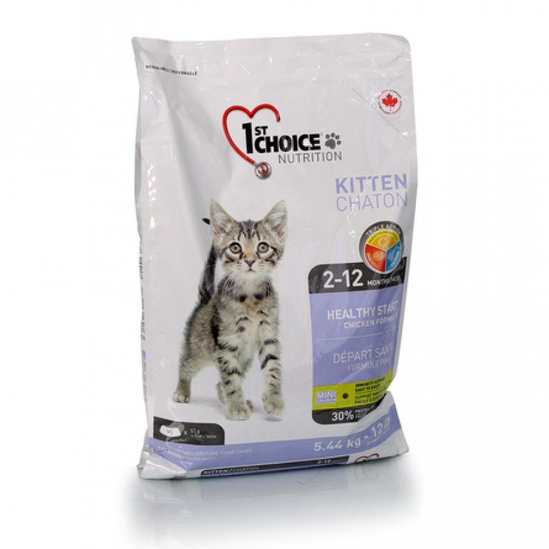1st Choice Healthy Start Сухой корм для котят (с курицей), 5,44 кг