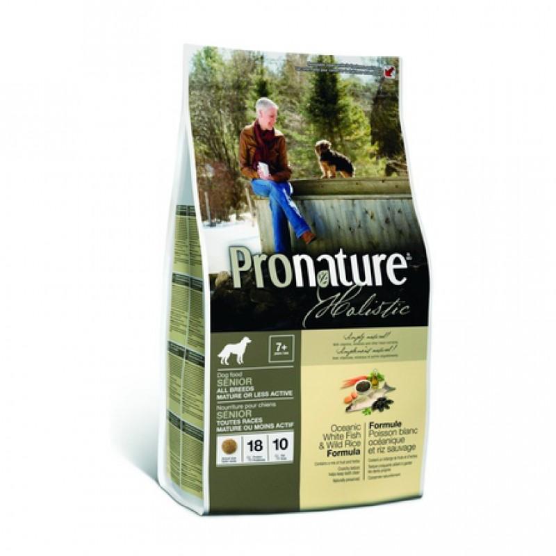 Pronature Holistic Senior All Breeds Сухой корм для пожилых собак всех пород (с океанической белой рыбой и диким рисом), 13,6 кг