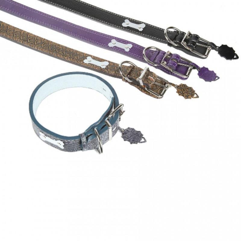 Dogger Ошейник для собак, с биркой, цветной, ширина 4,5 см, длина 55-80 см