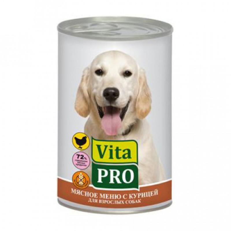 Vita Pro Кусочки паштета в соусе для взрослых собак всех пород (с курицей), 400 гр
