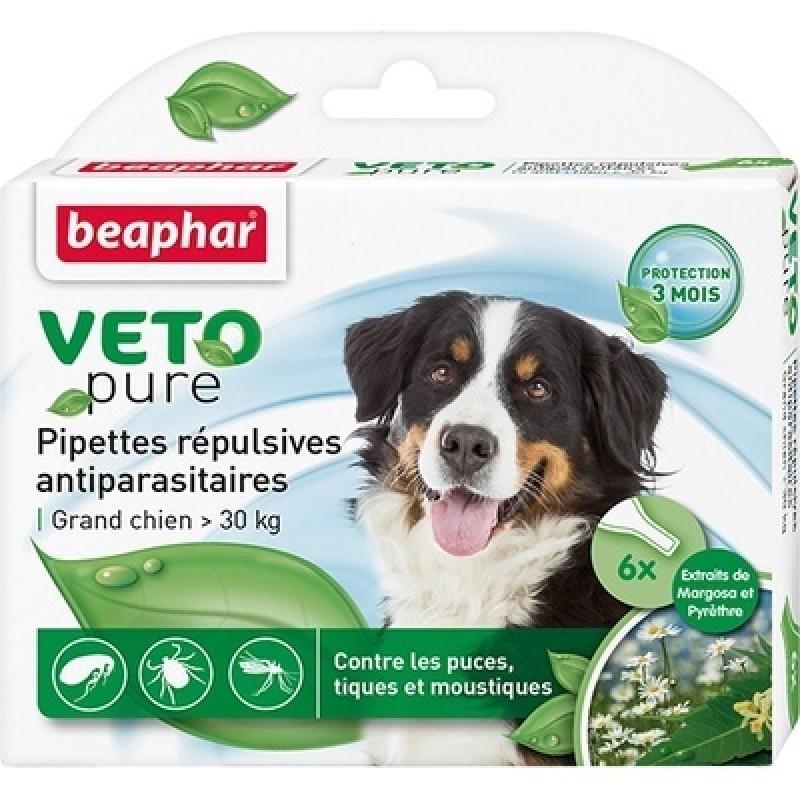 Beaphar VETO pure БИО капли от блох и клещей для собак крупных пород