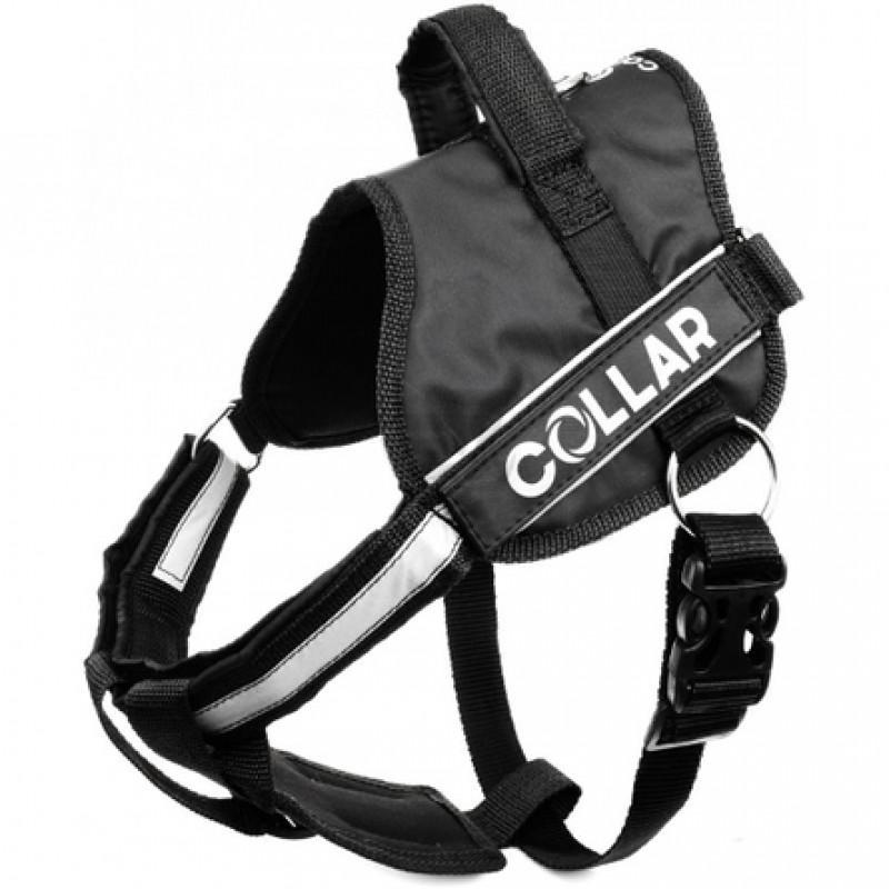 Collar Dog Extreme Police Шлейка для собак, обхват 70-100 см, черная