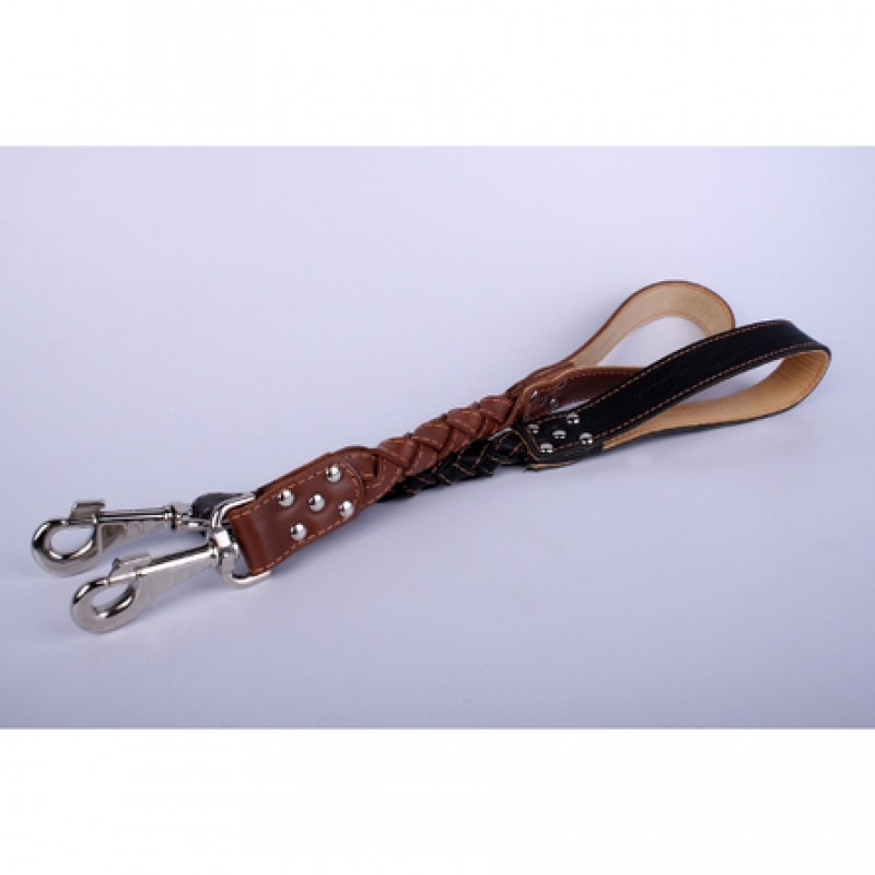 Collar Водилка с круглым плетением, ширина 2 см, длина 50 см, коричневая