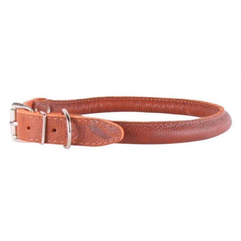 CoLLaR SOFT Ошейник для длинношерстных собак, ширина 2 см, длина 39-47 см, коричневый