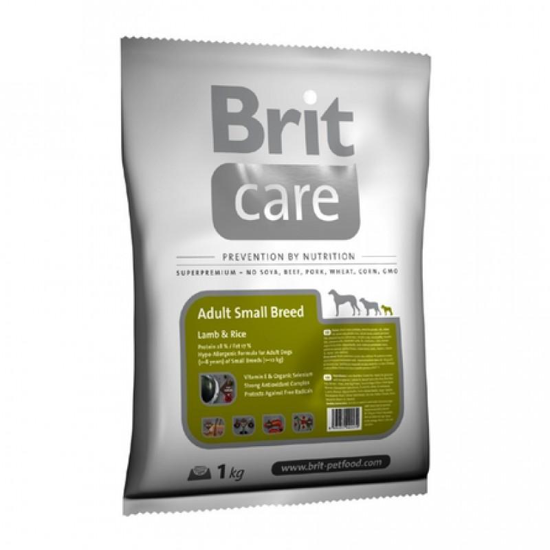 Brit Care Adult Small Breed Сухой корм для взрослых собак мелких пород (с ягненком и рисом), 1 кг