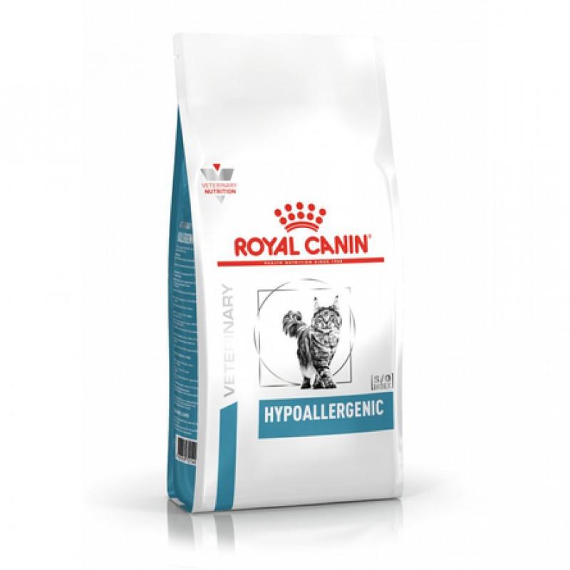 Royal Canin Hypoallergenic Сухой лечебный корм для кошек при заболеваниях кожи, 2,5 кг