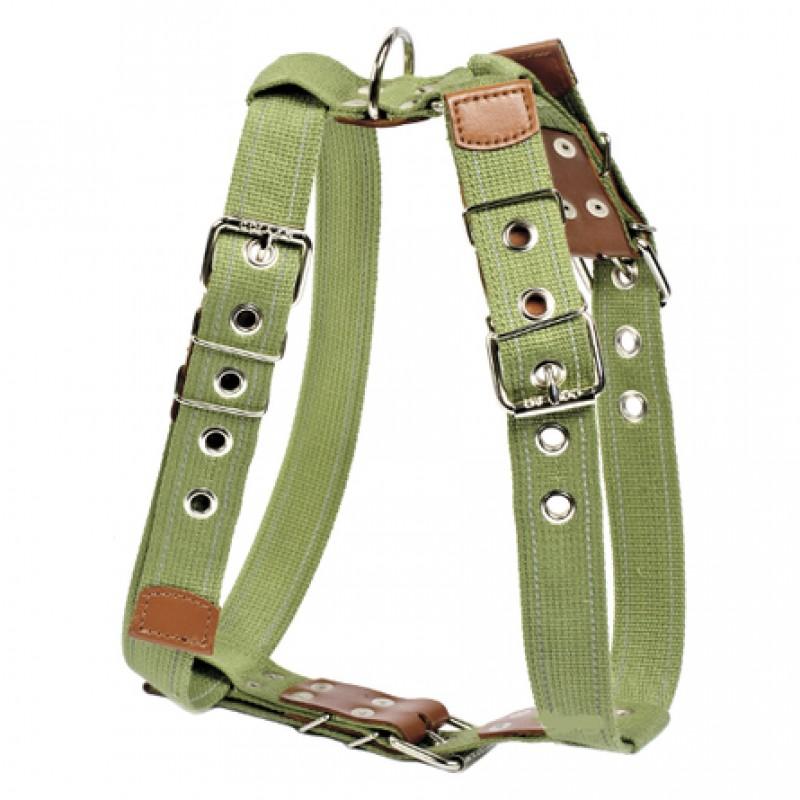 Collar Шлейка брезентовая с тесьмой для собак, обхват шеи 68-91, обхват груди 75-99 см, ширина 3,5 см