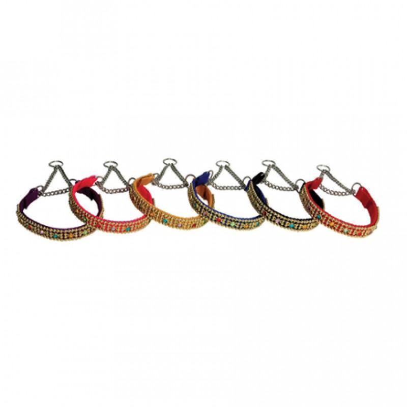 RedPlastic Удавка со стразами для собак, ширина 1,2 см, длина 22 см, цветная