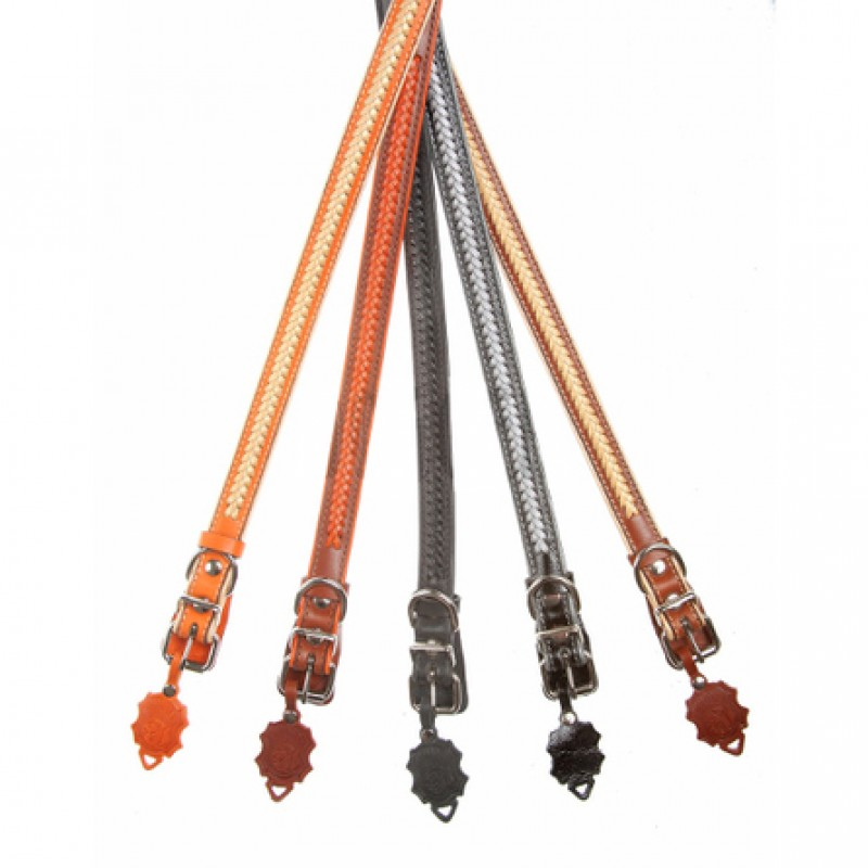 Dogger Ошейник для собак, подвернутый, с плетением, ширина 2 см, длина 35-55 см