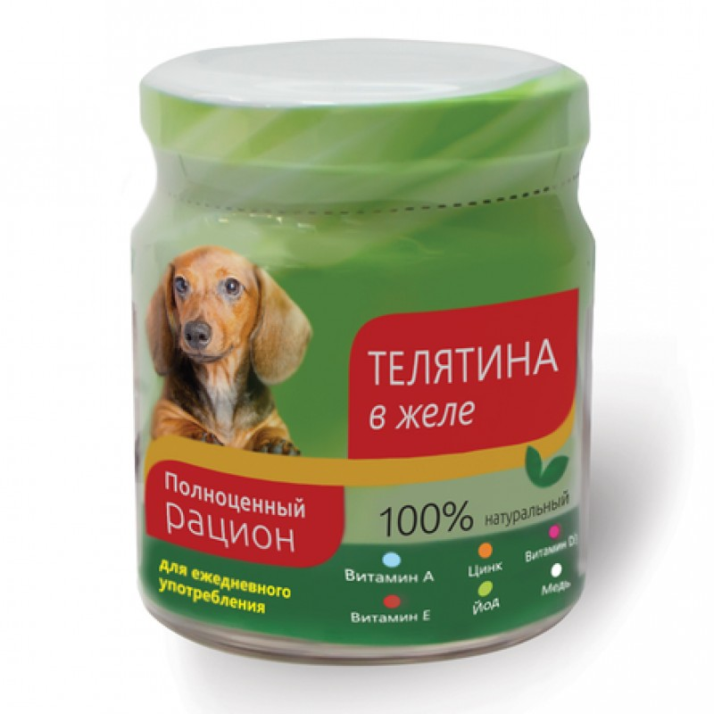 TiTBiT Филе в желе для взрослых собак всех пород (с телятиной), 100 гр