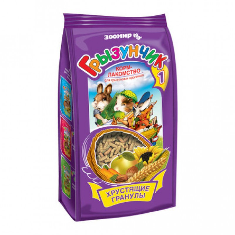 Зоомир Грызунчик 1 Лакомство для грызунов, 150 гр