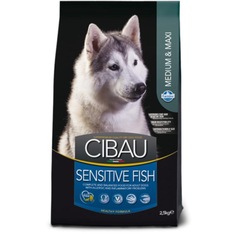 Farmina CIBAU MEDIUM/MAXI сухой корм сенситив для собак средних и крупных пород (рыба), 12 кг