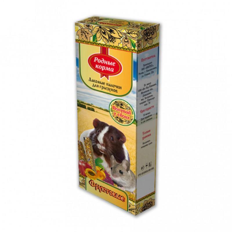 Родные Корма Лакомство для грызунов (с фруктами), 90 гр