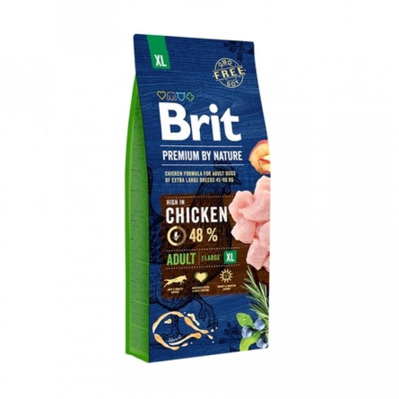 Brit Premium by Nature Adult XL Сухой корм для взрослых собак гигантских пород, 15 кг