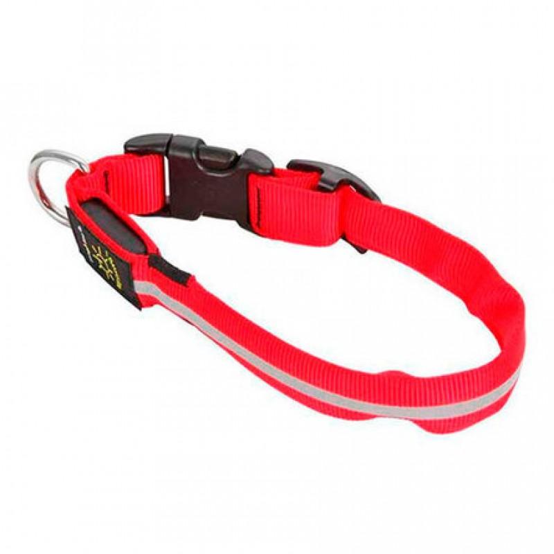 Nite Ize Светящийся ошейник для собак, малый, 25 - 33 см, красный