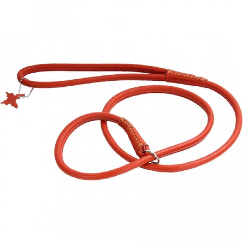 Collar Glamour Поводок-удавка круглый для собак, ширина 8 мм, длина 135 см, оранжевый
