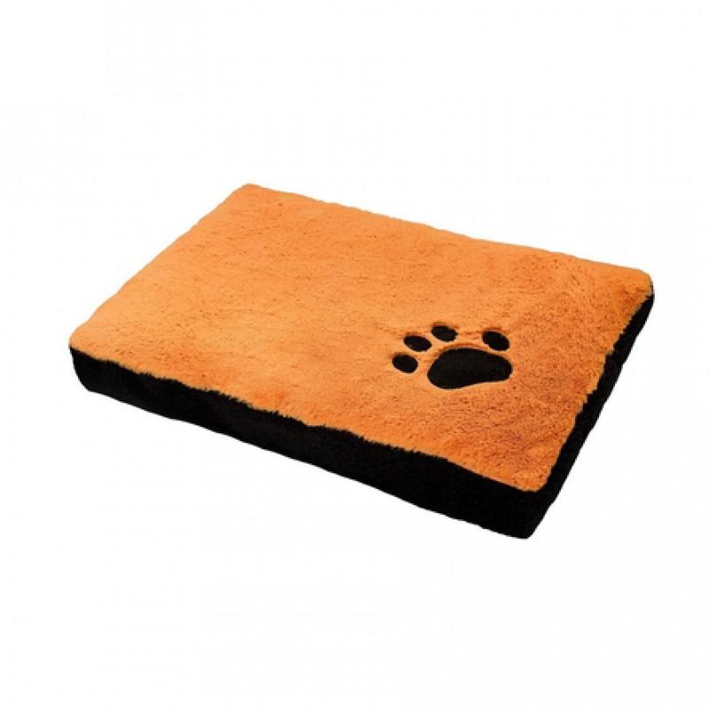Zoo-M Плато Перина прямоугольная для собак, оранжевая