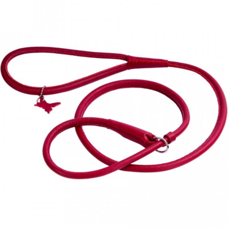 Collar Glamour Поводок-удавка круглый для собак, ширина 6 мм, длина 135 см, красный
