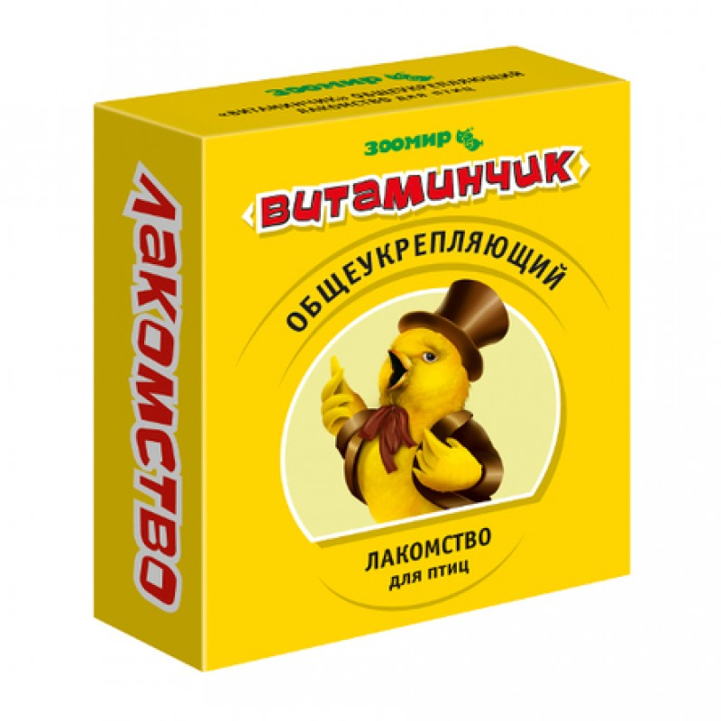 Витаминчик витаминное лакомство для птиц, 50 гр