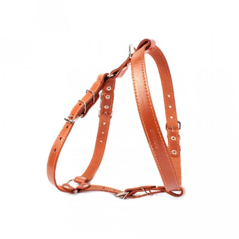 Collar Шлейка одинарная для собак, ширина 2 см, обхват шеи 40-56 см, обхват груди 55-65 см, коричневая