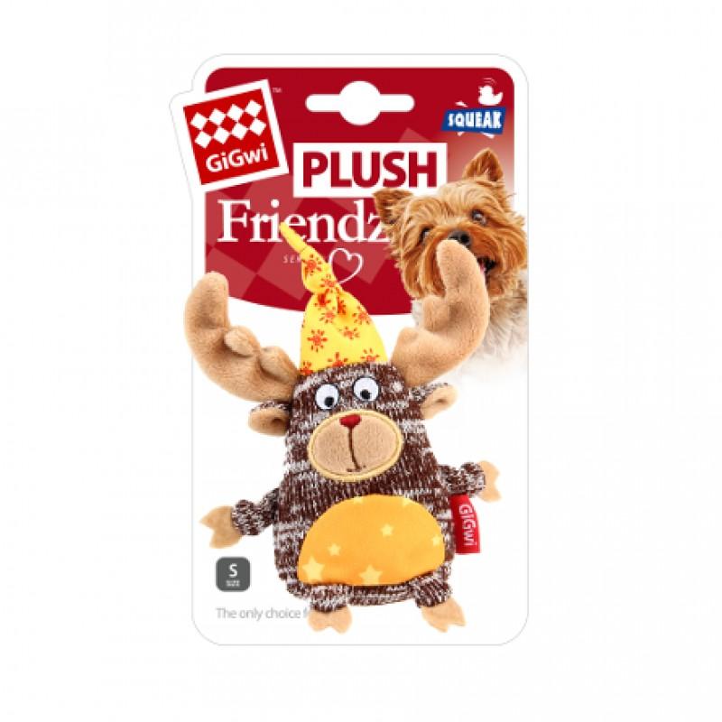 GiGwi Plush Friendz Игрушка для собак Лось с пищалкой