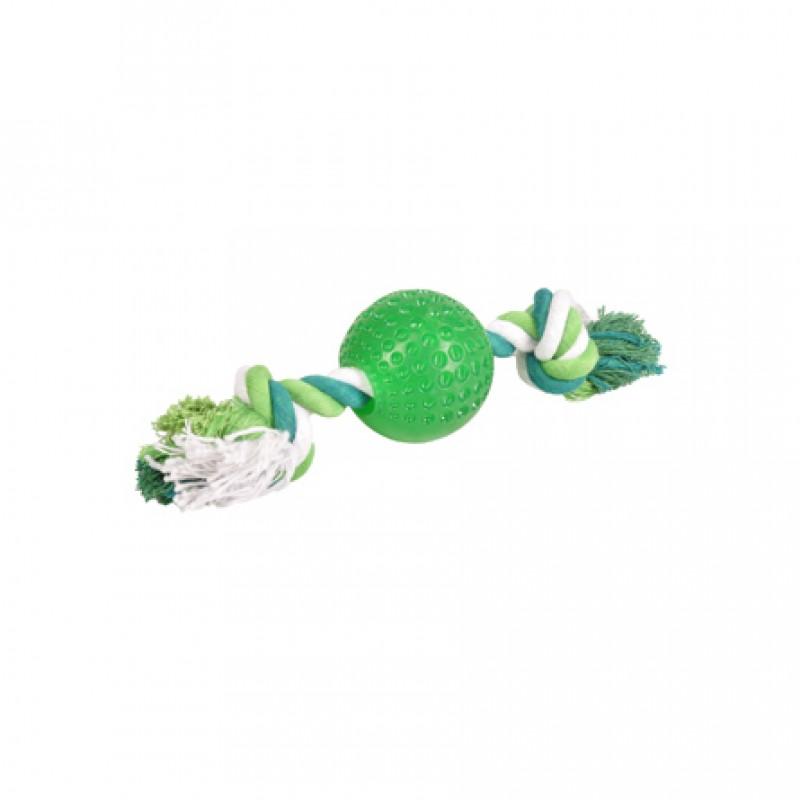 Flamingo Shots Игрушка для собак сверхпрочный резиновый мяч на веревке, резина