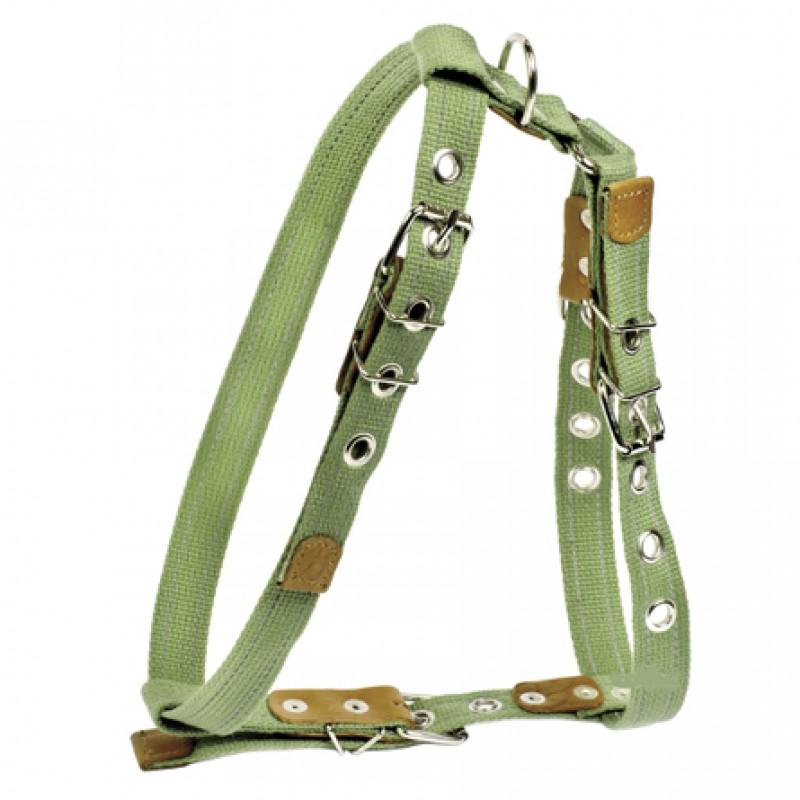 Collar Шлейка брезентовая с тесьмой для собак, обхват шеи 47-72, обхват груди 68-80 см, ширина 2,5 см