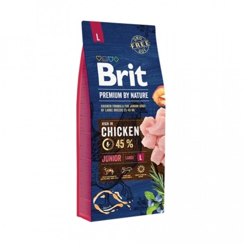 Brit Premium by Nature Junior L Сухой корм для молодых собак крупных пород, 15 кг