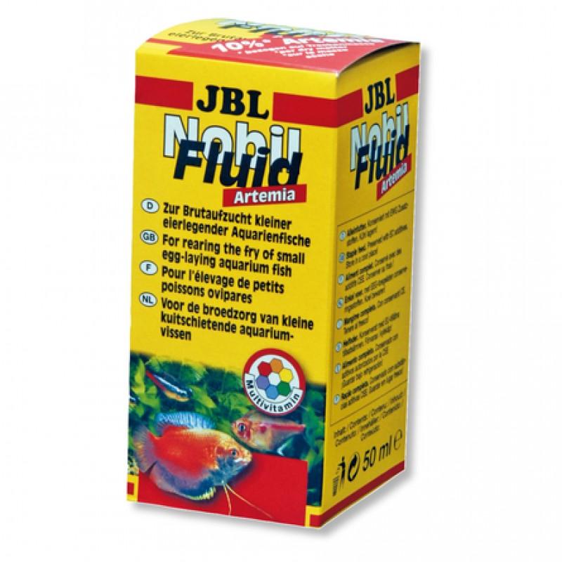 JBL NobiFluid Artemia Корм для аквариумных рыбок, живая артемия, 50 мл