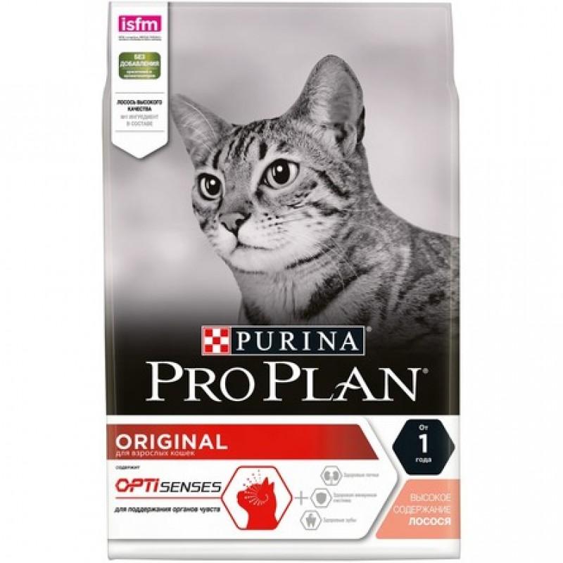 Pro Plan Adult Сухой корм для взрослых кошек (с лососем и рисом), 3 кг