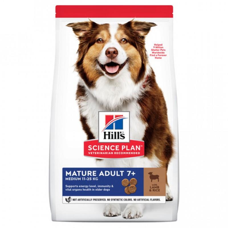 Hill's Science Plan Active Longevity Сухой корм для пожилых собак средних пород (с ягненком и рисом), 12 кг