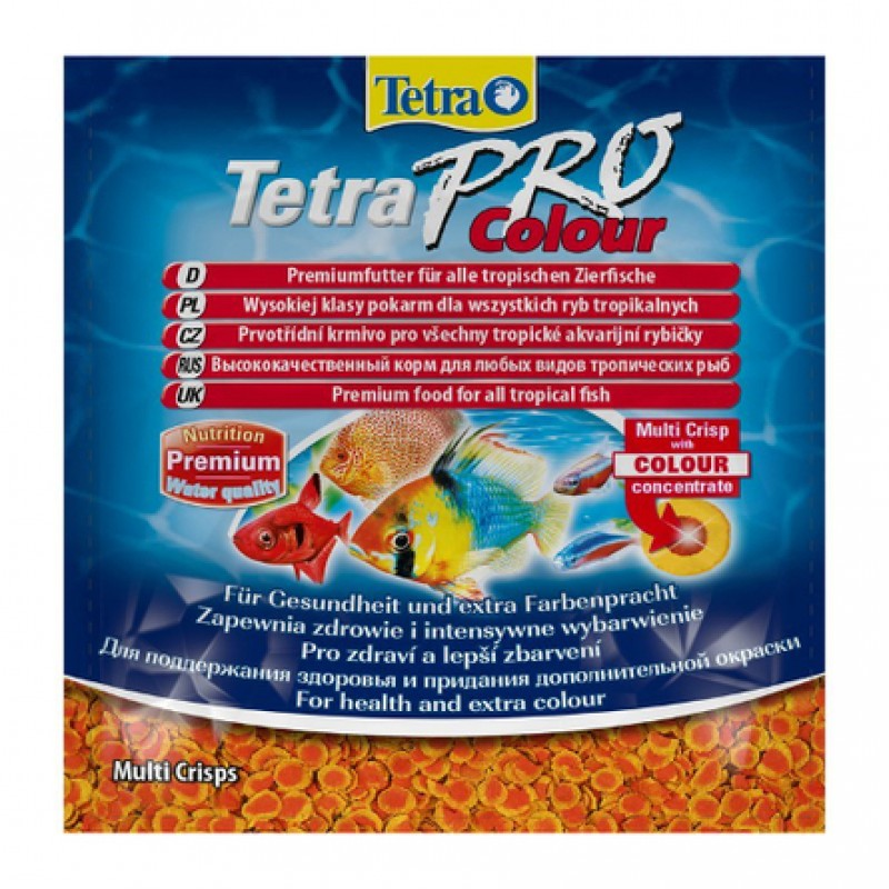 TetraPro Color Crisps Основной корм для всех видов рыб, 12 гр