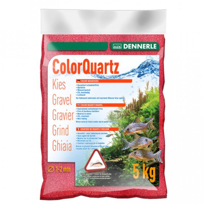 Dennerle ColorQuartz Цветной аквариумный грунт, гравий фракции 1-2мм, красный, 5 кг