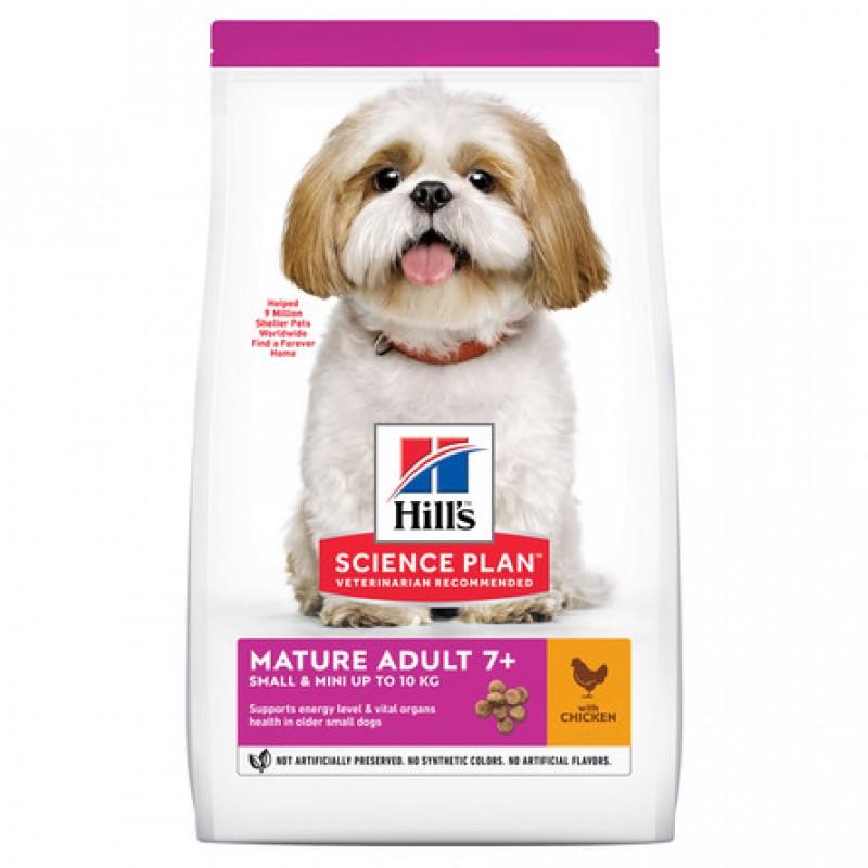 Hill's Science Plan Small & Miniature Сухой корм для пожилых собак декоративных и мелких пород (с курицей и индейкой), 300 гр