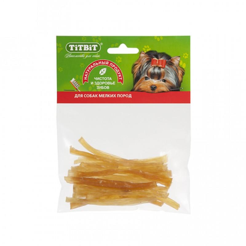 TiTBiT Сухожилия говяжьи (соломка) для взрослых собак мелких пород, 35 гр